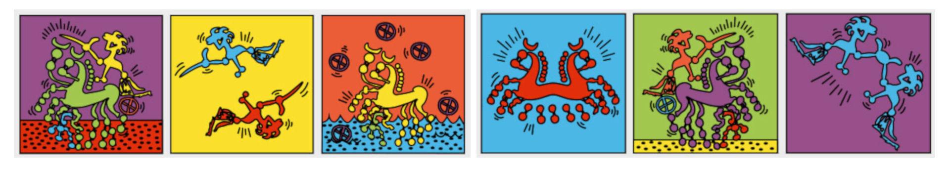 Die Münzbilder der Kelten regten Livia Enderli, AATG, zu modernen grafischen Umsetzungen und Interpretationen an. Photo credits: © 2018 Amt für Archäologie des Kantons Thurgau (Foto: Livia Enderli).