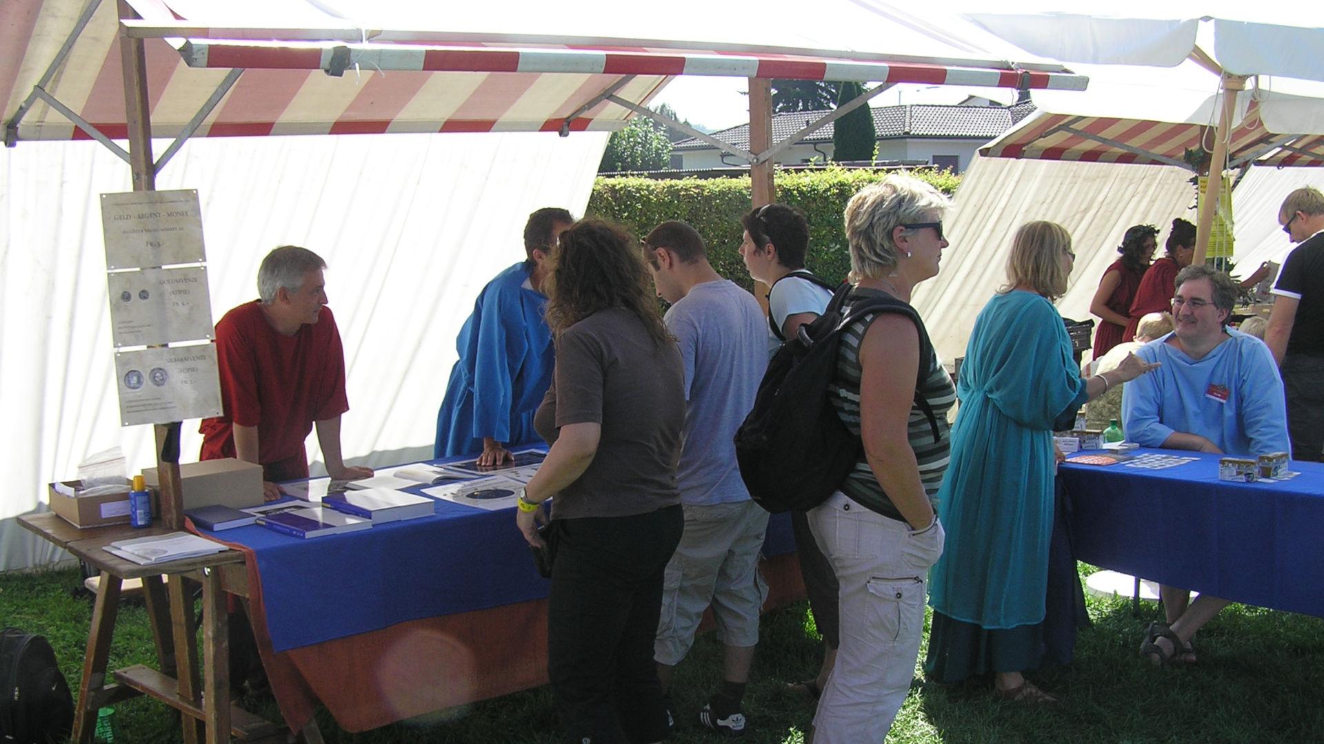 Der Stand des IFS am Römerfest 2008 in Augst