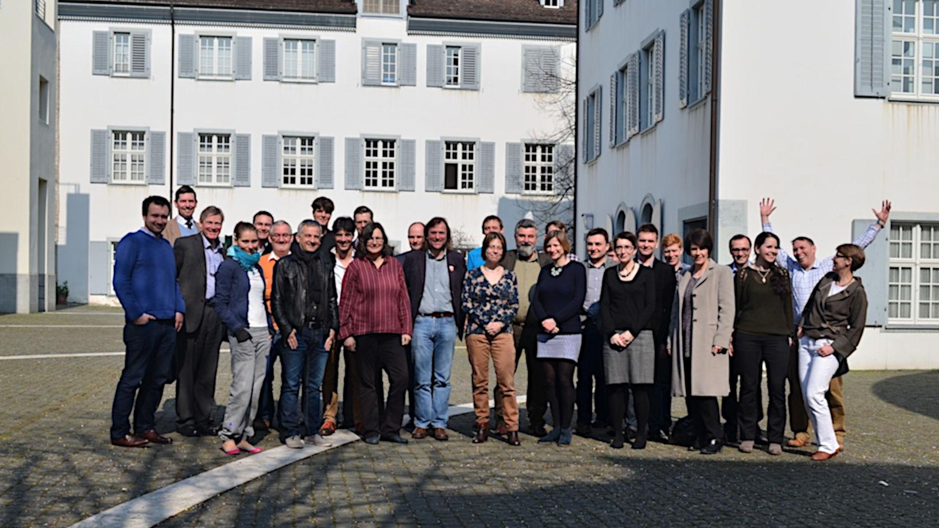 Gruppenbild der Teilnehmer am ECFN/Nomisma.org-Meeting in Basel