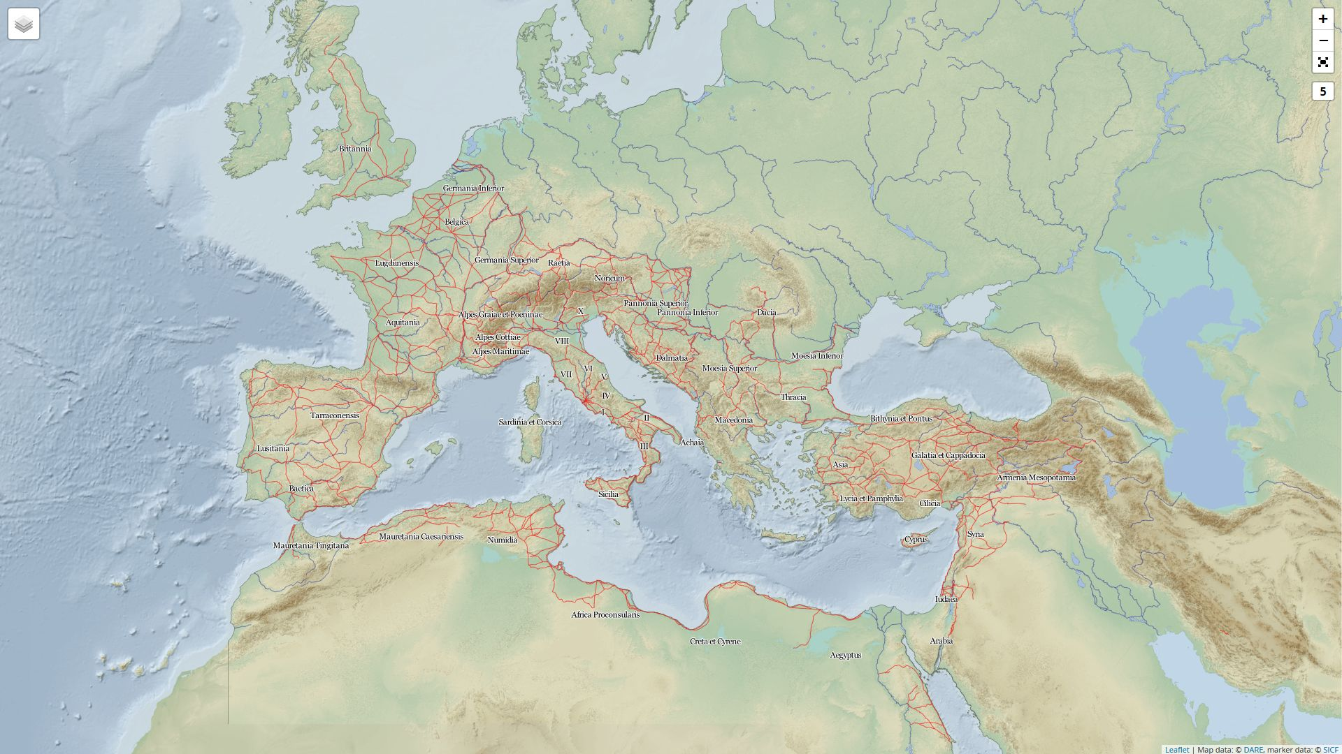 Digital Atlas of the Roman Empire: Karte des Imperium Romanum