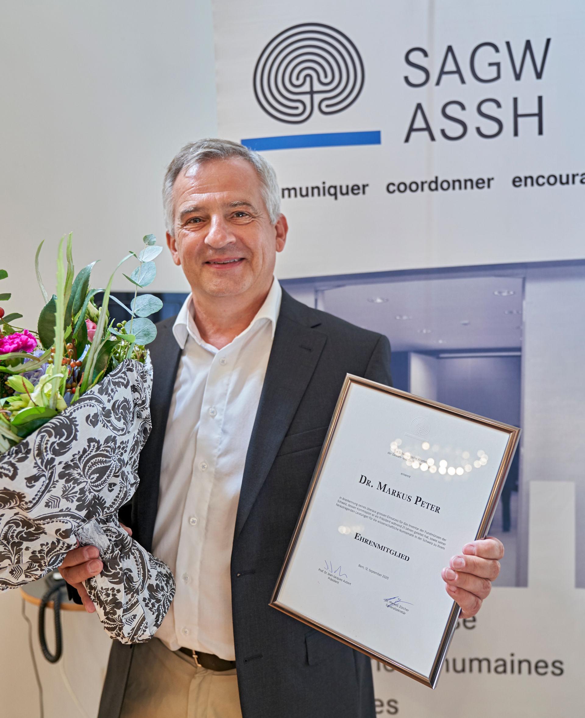 Dr. Markus Peter, Ehrenmitglied der SAGW 2020.